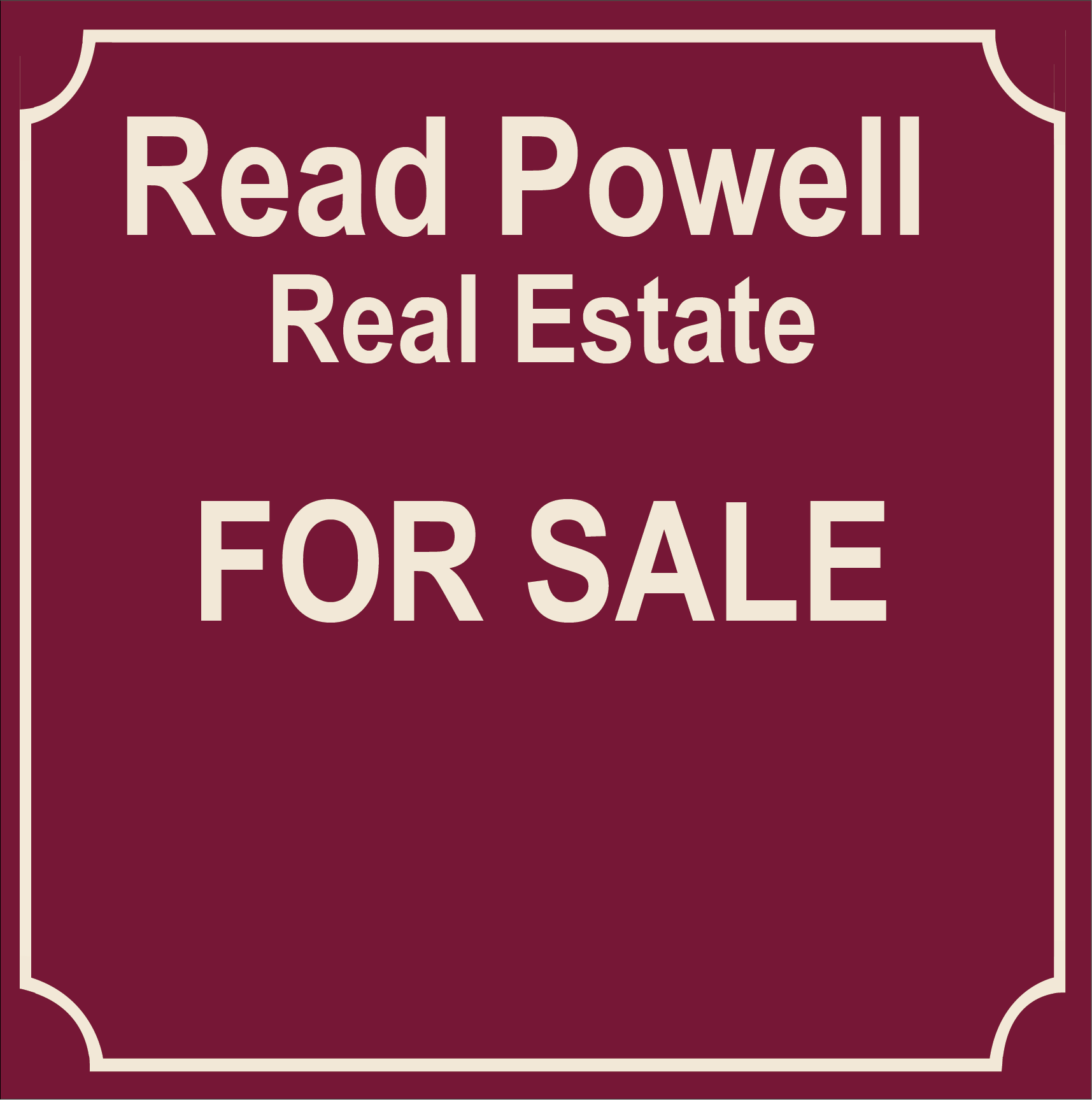 Read Powel Yard Sign