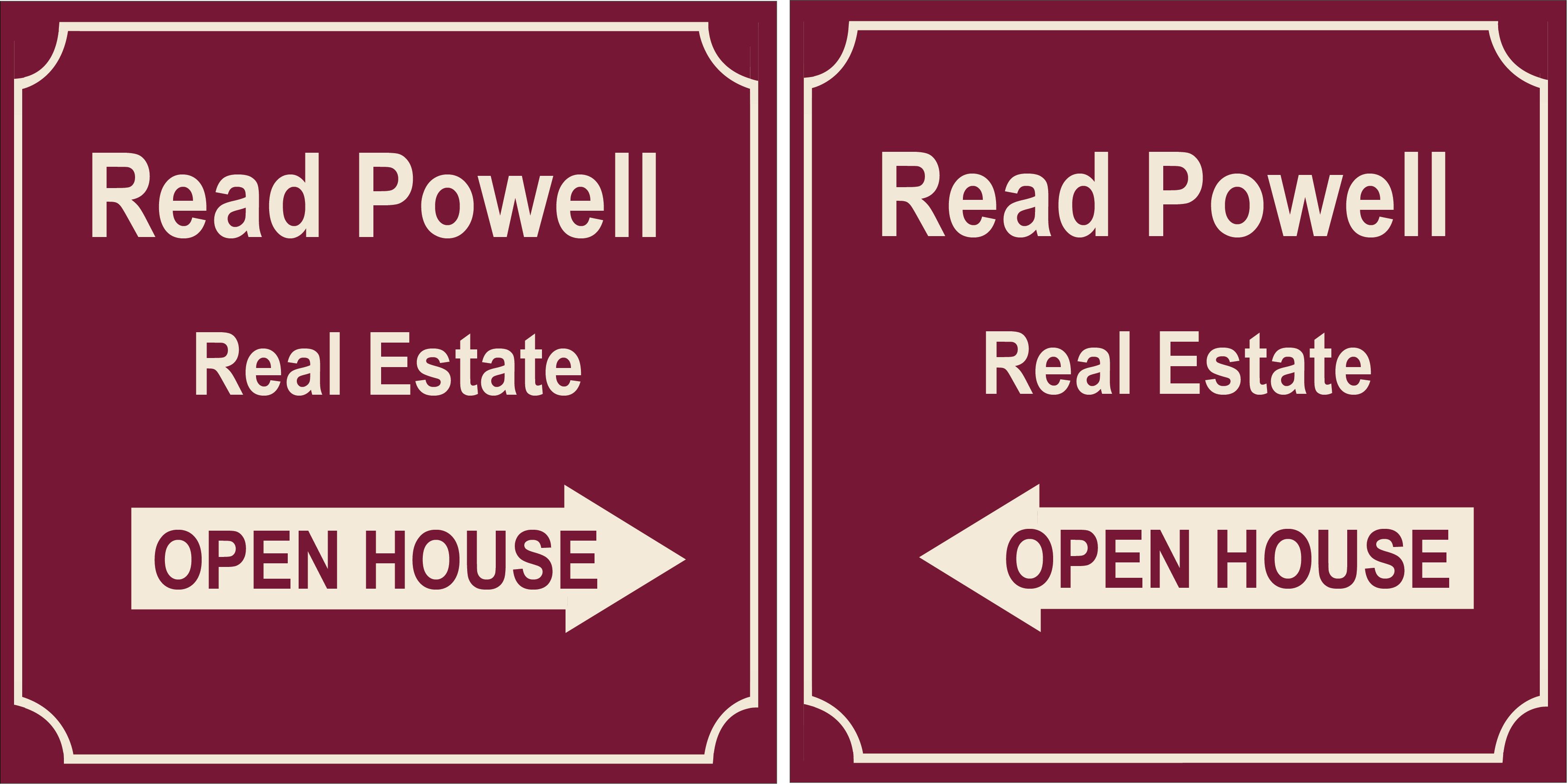 Read Powell Open House Signs