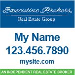 Executive Brokers with Executive Real Estate Signs