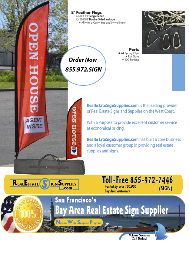 Real Estate Feather Flags and Clips